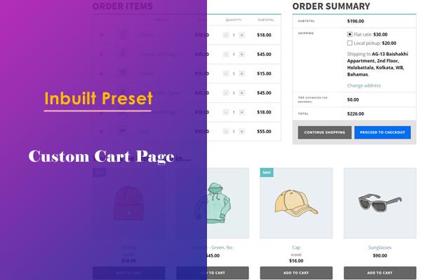 Custom Cart Page