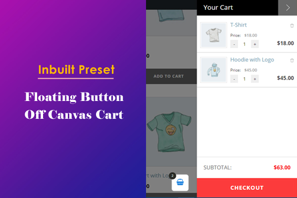 Off Canvas Cart Panel with Floating Button