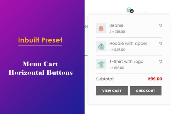 Menu Cart with Horizontal Buttons